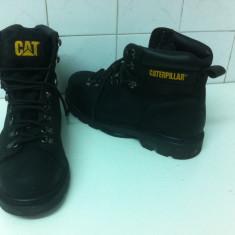 Bocanci CAT - CARTIPELLAR de Santier marimea 46 - Bocanci barbati, Culoare: Negru, Piele naturala