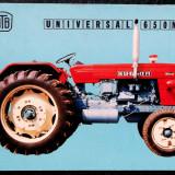 CARTE POSTALA ROMANIA RSR AUTO / UTB BRASOV / TRACTOR UNIVERSAL 650 M **
