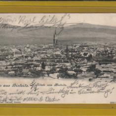 BISTRITA 1901 - Carte Postala Transilvania pana la 1904, Circulata, Fotografie