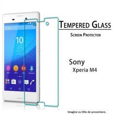 FOLIE de sticla Sony XPERIA M4 0.33mm, 2.5D, 9H tempered glass securizata antisoc - Folie de protectie Sony, Anti zgariere