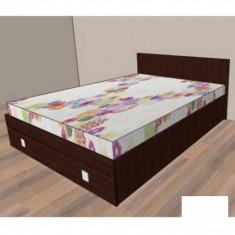 Mobila de dormitor - Pat cu un sertar Raul 1 - nuc 729