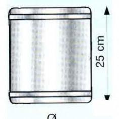Cos fum - Tub 25 cm pentru cosuri de fum izolate din inox Hi Line Plus - 300 x 400 x 50 mm