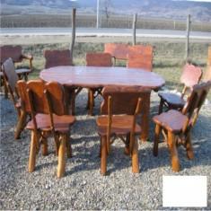 Masa gradina - Masa ovala cu 8 scaune Gardenland - MSE 004