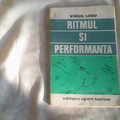 Carte despre Sport - Ritmul si performanta-Prof.Virgil Ludu