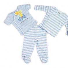 Haine copii - Set hainute 3 piese pentru bebelusi in dungulite Elefantelul albastru