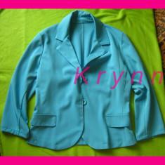 Jacheta casual albastra, marime M - Jacheta dama, Marime: M, Culoare: Albastru