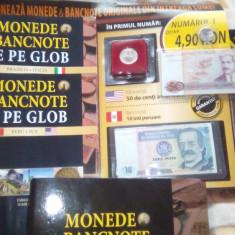 MONEDE SI BANCNOTE DE PE GLOB PRIMELE DOUA NR.+BIBLIORAFT