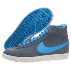 ADIDASI ORIGINALI 100% Nike Blazer Mid VINTAGE piele TOTAL UNISEX nr 36.5 - Ghete dama, Culoare: Gri