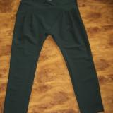 Pantaloni superbi italieni cu tur putin lasat LA CONTESSA S/M - Pantaloni dama, Marime: M, Culoare: Verde, Lungi