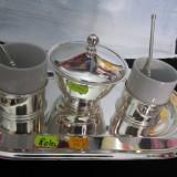 SERVICIU CAFEA METAL ARGINTAT, Cesti