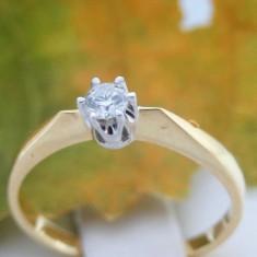 Inel aur 14k, diamant de cca. 0.12 ct, 2.01 grame
