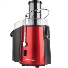 HEINNER Storcator de fructe Heinner TurboMax 8080, Putere: 850W, 2 viteze, Material: inox, Culoare rosu, Prot