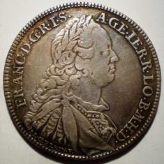 G.257 AUSTRIA GERMANIA NURNBERG FRANCISC I THALER TALER 1760 N ARGINT 28, 0g/40mm - Moneda Medievala, Europa