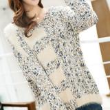 BL266-4 Bluza casual cu mohair si tricot