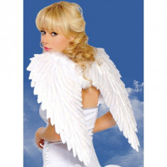 Costum Halloween - H91 Accesoriu aripi de ingeras alb