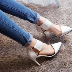 Pantofi dama - CH2321-2 Pantofi cu toc, varf ascutit si decupaj