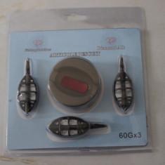 Set 3 Momitoare Method Feeder Diamant Alb 60 Gr - Plumbi Pescuit