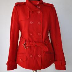 Palton dama - ORSAY PALTON ROSU MARIMEA 38