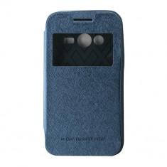 Husa Telefon Atlas, Albastru, Piele Ecologica, Toc - Toc My-Wow Samsung Galaxy Trend Lite2/Ace NXT Albastru