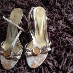 Sandale dama - Sandale de dama, sandale vara, cu piatra stralucitoare, 37, Afrodita, comode