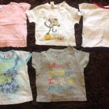Haine Copii 6 - 12 luni, Tricouri, Fete - Set de cinci 5 tricouri pentru fetite, marimea 0-12 luni, diverse marci, de vara