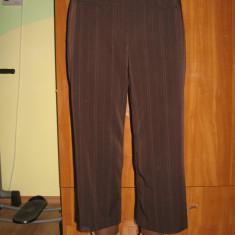 Pantaloni dama, Trei-sferturi - PANTALONI Larry Levine stofa, drepti, lungime 7/8, Mar L