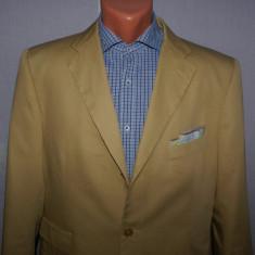 Costum barbati din bumbac PURO COTONE marimea 50 culoarea camel, 3 nasturi, Marime sacou: 50, Normal, Marime talie: 40