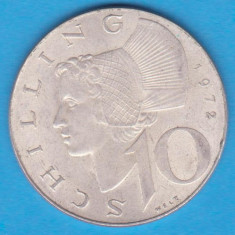 (5) MONEDA DIN ARGINT AUSTRIA - 10 SCHILLING 1972, 7, 5 GRAME, Europa