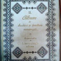 ALBUM DE BRODERII SI TESATURI ROMANESTI, SIBIU 1925 - Carte veche