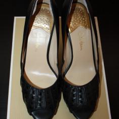 Pantofi sandale piele COLE HAAN - SUA - Sandale dama Cole Haan, Marime: 39, 40, Culoare: Negru, Piele naturala