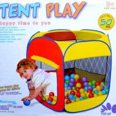 Casuta/Cort copii - Cort de joaca cu 50 de bile colorate incluse 119/89/61
