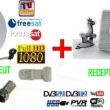 Sistem complet satelit - Antena tv HD Satelit/Terestra/Cablu auto, camping pentr Focus sat sau Freesat