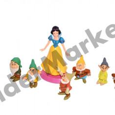 Set 8 figurine Alba ca Zapada - colectioneaza toate personajele ! - Figurina Desene animate