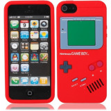 Jocuri Game Boy - Game Boy Style Protective Silicone Cover Case for iPhone 5 Red WW87006994