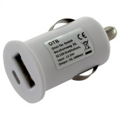 Car Charging Adapter USB 1A White ON1598