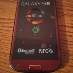 Samsung Galaxy S3 i9300 ROSU / NOU / LIVRARE CU VERIFICARE - Telefon mobil Samsung Galaxy S3, Alb, 16GB, Neblocat, Quad core, 1 GB