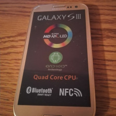 Telefon mobil Samsung Galaxy S3, Alb, 16GB, Neblocat, Quad core, 1 GB - Samsung Galaxy S3 i9300 AURIU / NOU / LIVRARE CU VERIFICARE