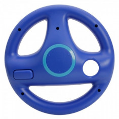 Wii Wii U Steering Wheel Mario Kart Deep Blue WW84004867