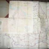 Mapa cu 8 Harti mari Automobilistice si Turistice, pliate- ONT Carpati RPR - Harta
