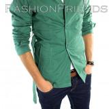 Palton tip ZARA verde - palton barbati - palton slim fit - cod 5362, L, Din imagine