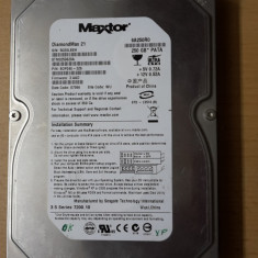 HDD PC Maxtor 250Gb IDE - Hard Disk Maxtor, 200-499 GB, Rotatii: 7200
