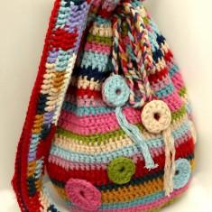 Geanta handmade - Gentuta crosetata tip sac