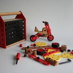 Set constructie din lemn de la IKEEA - Jocuri Seturi constructie, 4-6 ani, Baiat