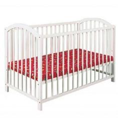 Patut Copii Lemn Fara Sertar Klups Ewelina I Alb - Patut lemn pentru bebelusi