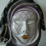 Superba masca de portelan, mare, lucrata manual, cromatica frumoasa de colectie.