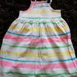 Rochita, rochie de vara pentru fetite, 3-5 ani, lejera, ideala de zi cu zi, Culoare: Multicolor