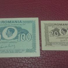 100 lei 1945 UNC + 20 lei 1945 UNC, An: 1945