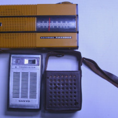 Aparat radio - 2 radio vechi national panasonic si sanyo functionale