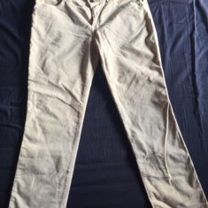 Pantaloni reiati KRIZIA - Pantaloni dama Krizia, Marime: Alta, Culoare: Alb, Lungi, Bumbac