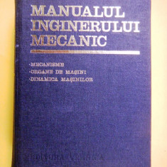 Carti Mecanica - MANUALUL INGINERULUI MECANIC coordonator Ghe Buzdugan volumul III